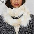Wink Gal warm faux fur ring women belt scarf female faux fur collar scarves women luxury brand 2016 Fashion loop scarf  W10462