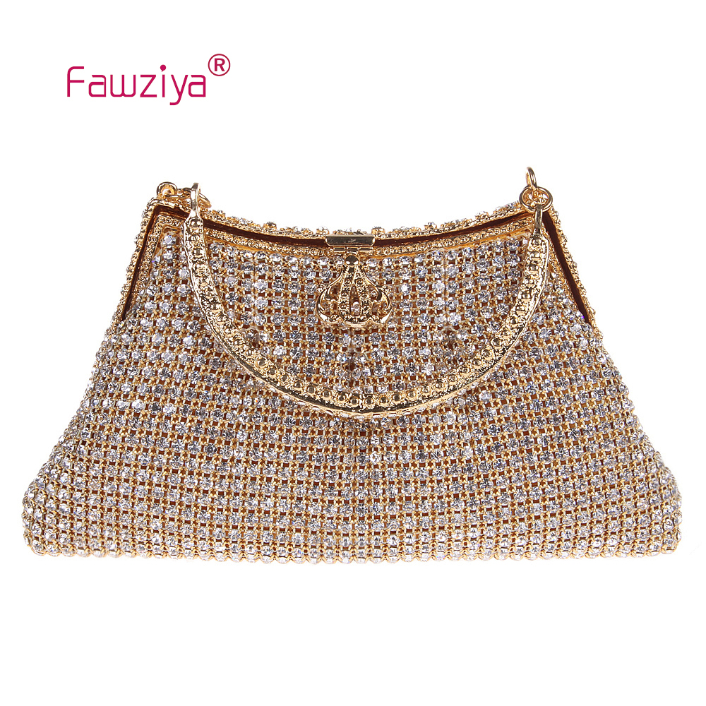 Fawziya Sequin Bag Crown Clutch With Handle Clutch Purse Bag The Night Bags for Womens Purses