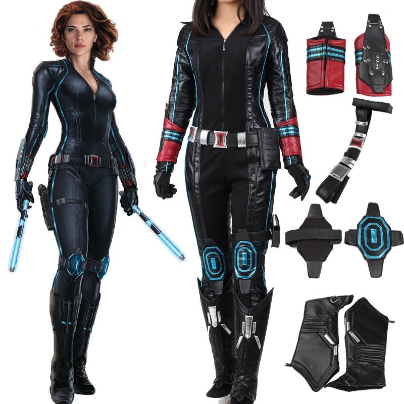 Avengers age of ultron black widow cosplay costume custom