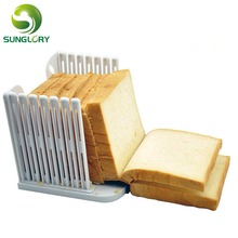 Kitchen Plastic Bread Slicer Guide Loaf Toast Cutter Leveler Bread Cutting Slice Fixator Tools 4 Bread Thickness Mold For Baking kitchen plastic pineapple style bread mold coffee