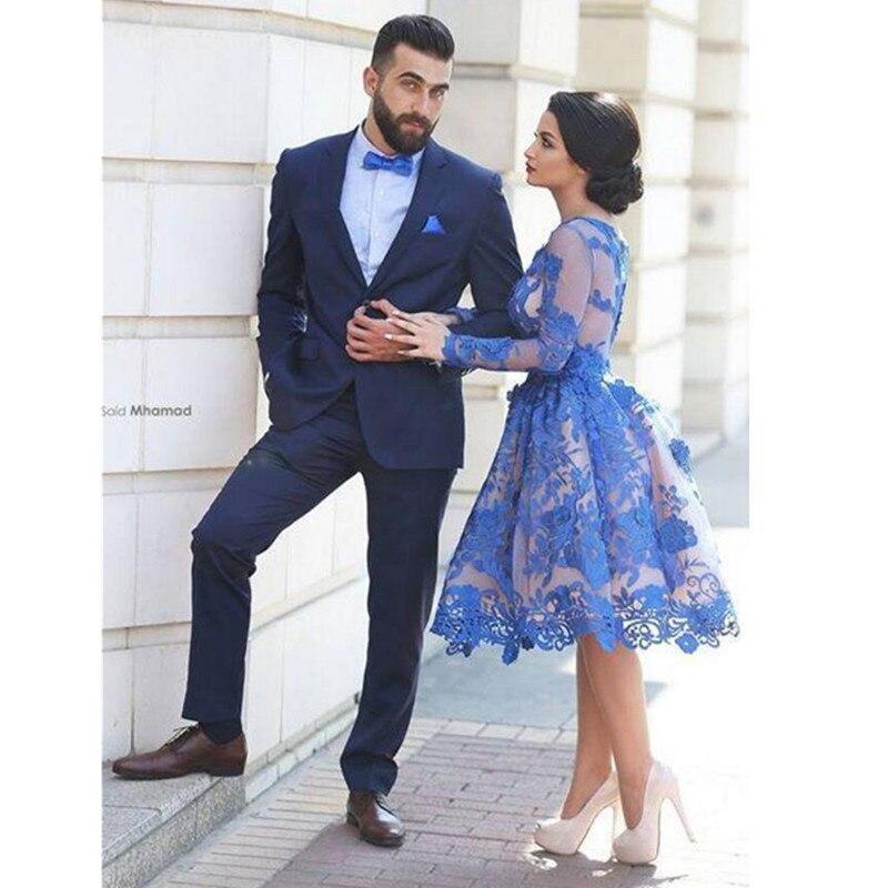 ᗜ Ljഃnew 2018 Handsome Tuxedos Men Slim Suits Two Pieces Men ...