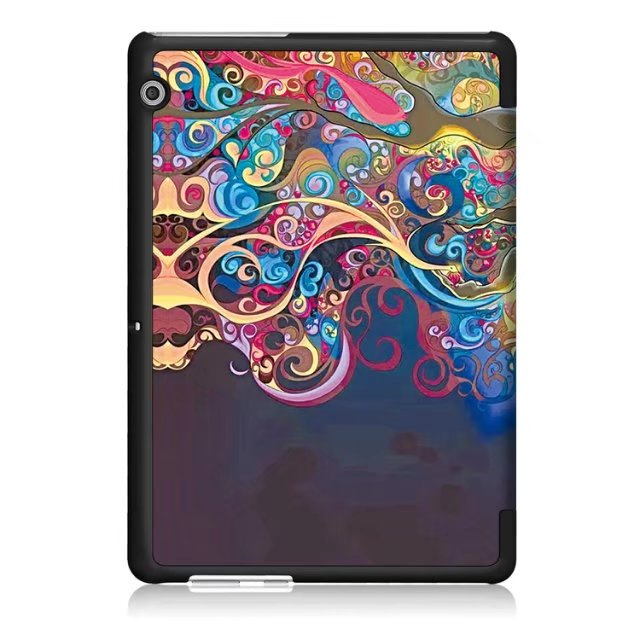 "Купить с кэшбэком Case For Huawei MediaPad T3 10 AGS-W09 AGS-L09 AGS-L03 9.6"" Cover Funda Tablet for Honor Play Pad 2 9.6 Slim Flip Case+Film+Pen"