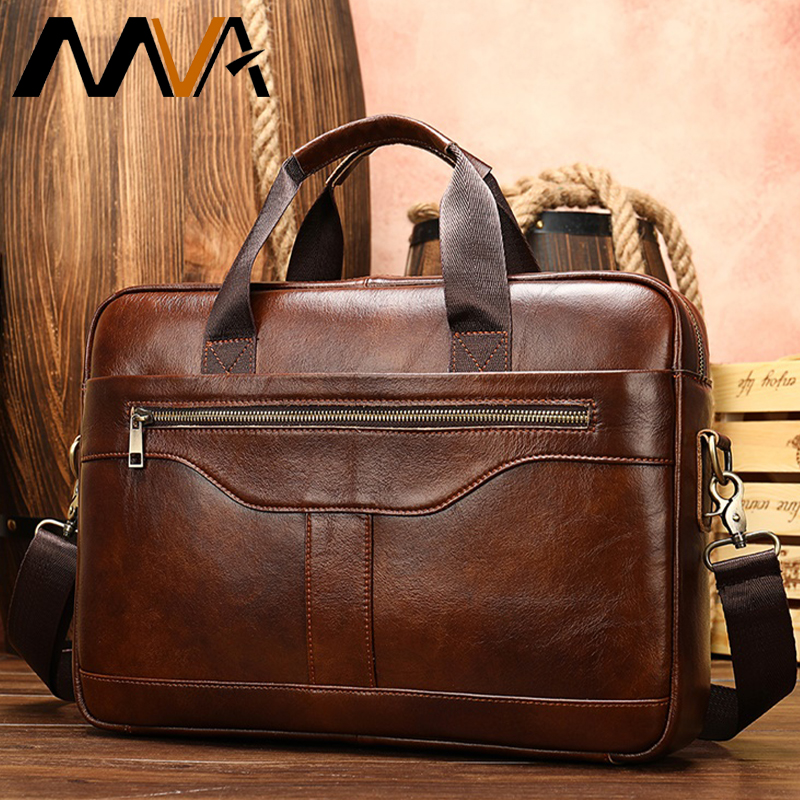 Bag Men's Genuine Leather Briefcases Mens Business Briefcase Leather Men's Laptop Bags Computer Bag Men Aktentasche Leder Herren