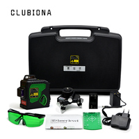 CLUBIONA 3D 12 Line Laser Level Self Leveling 360 Horizontal And Vertical Cross Super Powerful Green