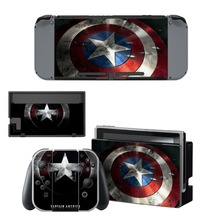 Nintendo Switch Vinyl Skins Sticker For Nintendo Switch Console and Controller Skin Set – For Avengers Captain America