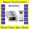 High Quality 7 Inch Screen 1V5 Multi Apartment Video Door Phone System Support 32G Memory Card