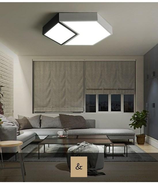 Simple Modern Livingroom Light Hexagonal Home Nordic Bedroom Lamp