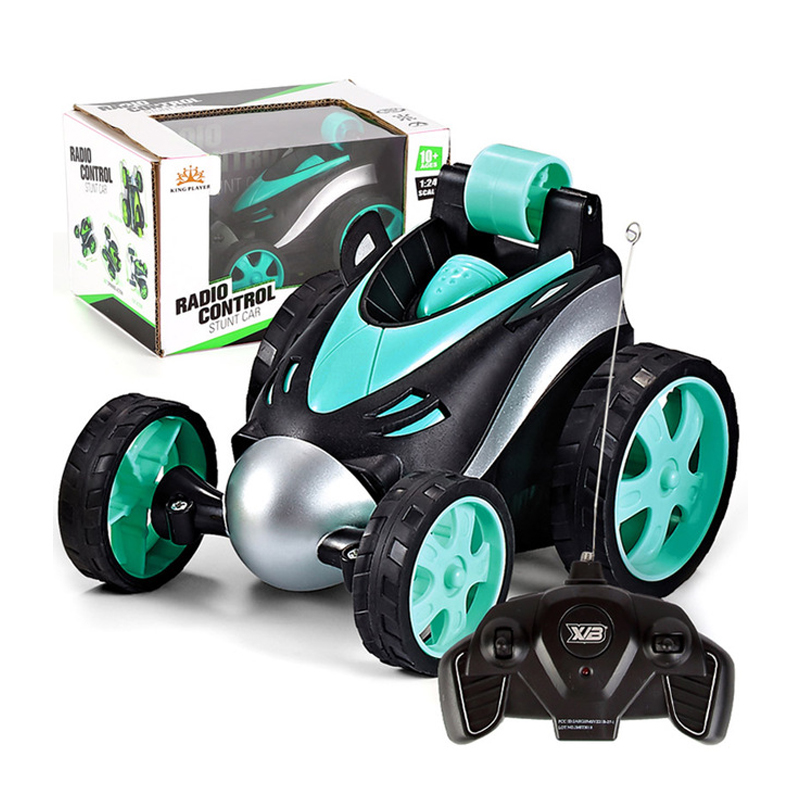 Wireless RC Car Tumbling Stunt Dump Truck Remote Control Toys Electric 360 Degree Rotating Stunt RC Cars For Boys Children