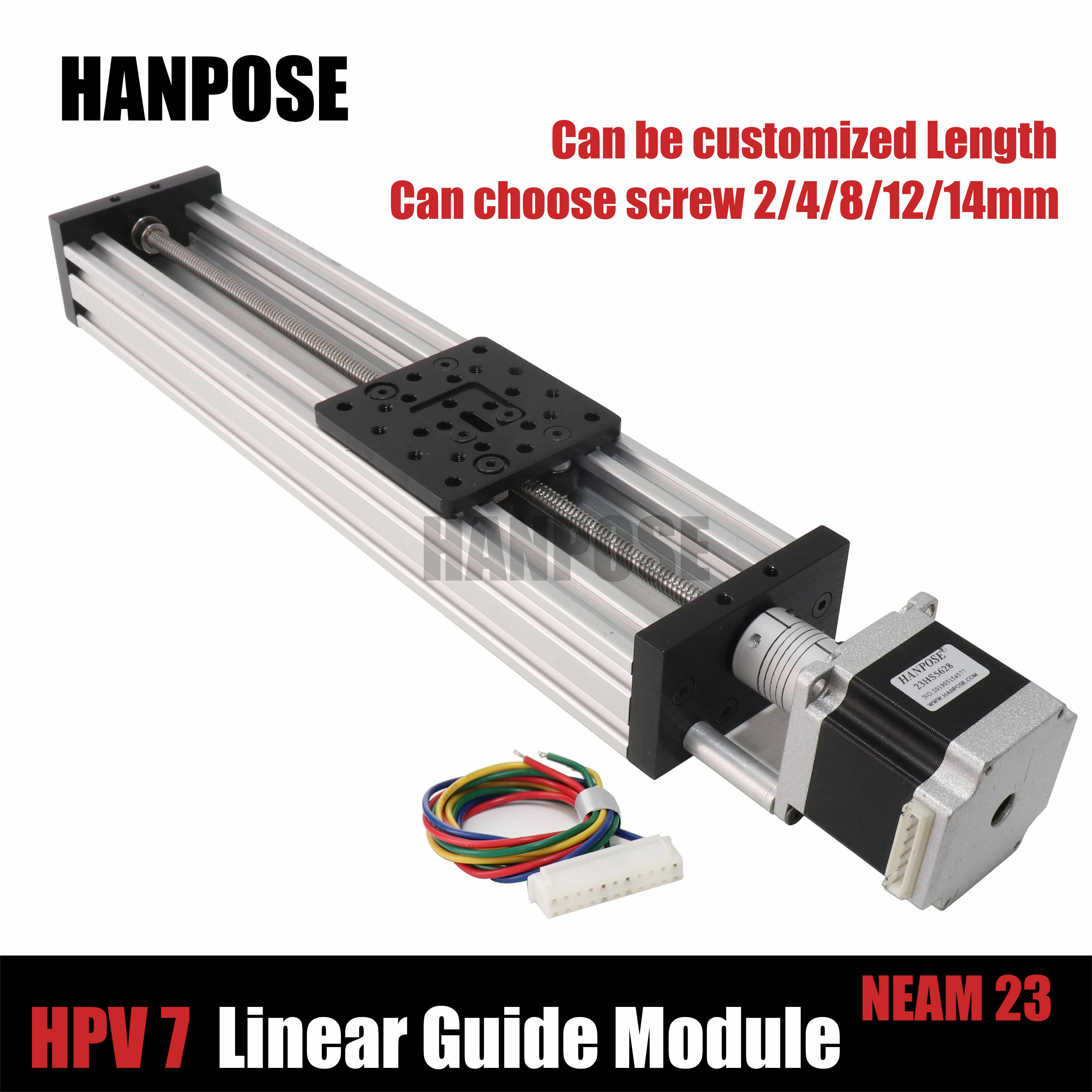 HPV7 Openbuilds C-Beam Linear Actuator Z axis t8 lead screw Pitch 2/4/8/12/14mm NEMA 23 2.8A stepper motor for Reprap 3D Printer