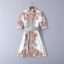 Dress Vintage พิมพ์ลูกปัดเพชร Vestidos