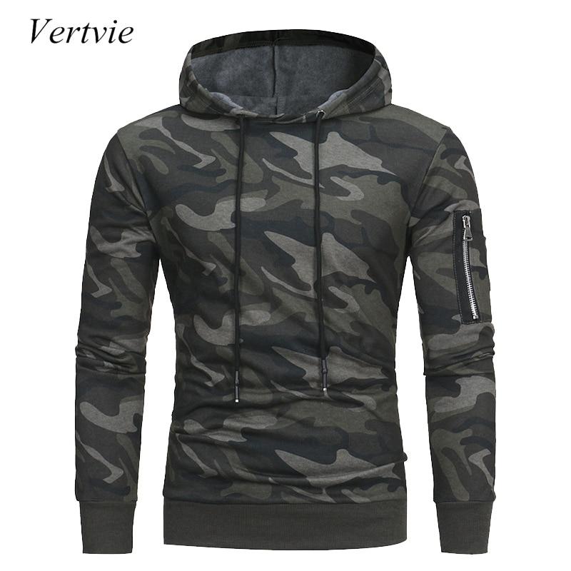 vertvie Mens Hoodies Long Sleeve Sweatshirt 3D Hoodie Camo Print Skateboarding Hoodie Hooded Men Tracksuit Hip Hop Top Plus Size ...