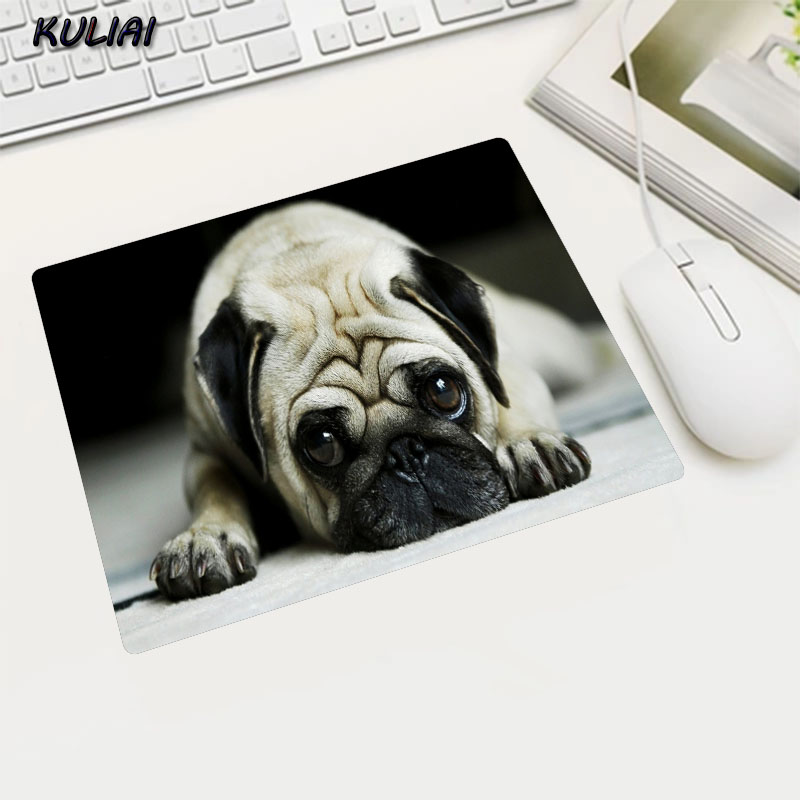 KULIAI Naughty Puppy 22X18/25X20/29X25CM Various Size Optional Rubber Durable MousePad Notebook Cooler Mat Track Track Mouse Pad