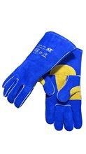 Welder Gloves Split Cowhide Leather Welding Gloves Reinforced Thumb & Palm w/ CE Certificated