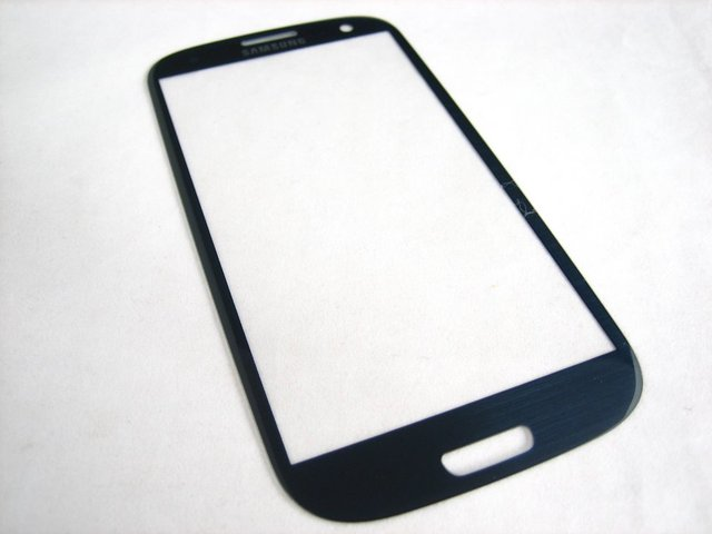 Replacement Front Glass Screen Protector (no inner screen) For Samsung Galaxy S3 SIII GT-i9300 i9300 i 9300 Blue