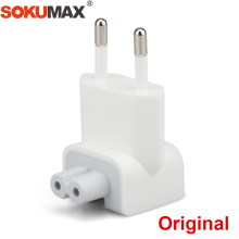 SOKUMAX Original Euro Pin Plug AC Duck Head for iPad Air Pro 10W 12W MacBook Wall Charger Power Adapter Replacement EU European