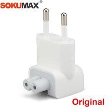 259a13f61e3 SOKUMAX Original Euro Pin Plug AC cabeza de pato para iPad Air Pro 10 W 12  W MacBook cargador de pared reemplazo del adaptador U..