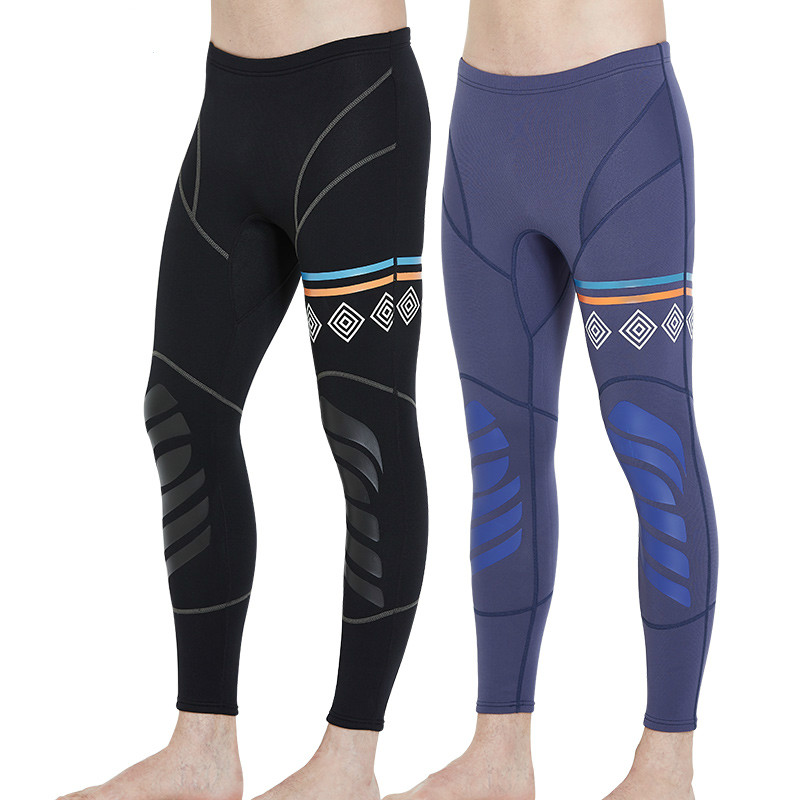 DIVE&SAIL 1.5mm Neoprene Men Winter Diving long Pants High Waist Ankle-length Warm Pants for Swimming Rowing Sailing Surfing