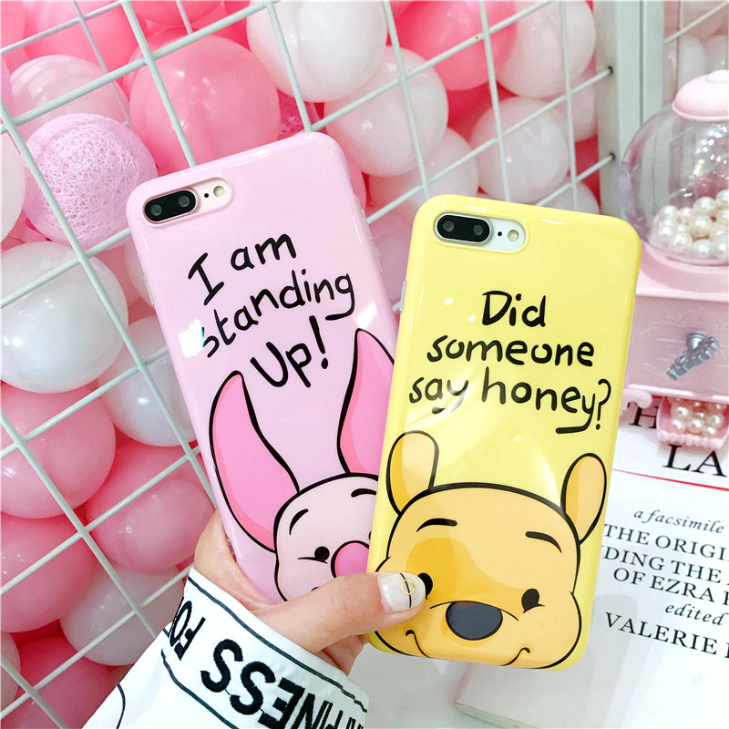 Cute Memo Dory Donald Daisy Duck pig Pooh Chip Dale Mickey Minnie Mouse Soft TPU Phone Case For iPhone X 6 6Plus 7 7Plus 8 8Plus