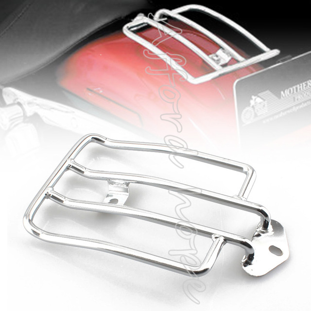 Motorcycle Stock Solo Seat Chrome Steel Painted Luggage Carrier ...
