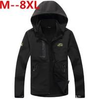 Plus Size 10XL 8XL 6XL 5XL TACVASEN Army Camouflage Coat Military Tactical Jacket Men Soft Shell