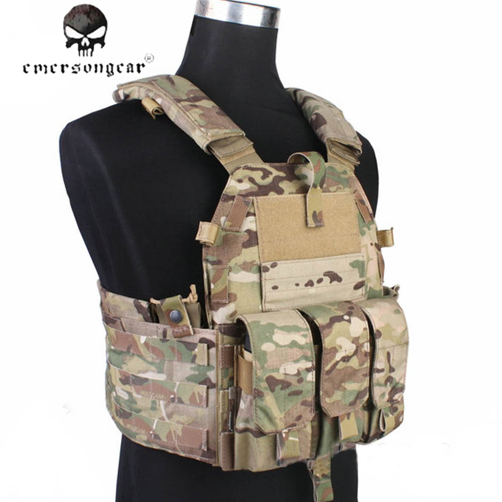 EMERSON Tactical Molle Vest Airsoft 094K M4 Pouch Military Hunting Paintball  CS Wargame Protective Vest Combat Gear