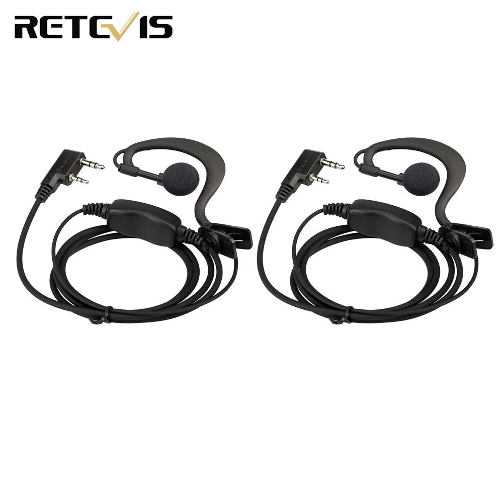 2pcs Retevis C-type Earhook Earpiece For Retevis RT24 RT21 Ham Radio Walkie Talkie J9118A
