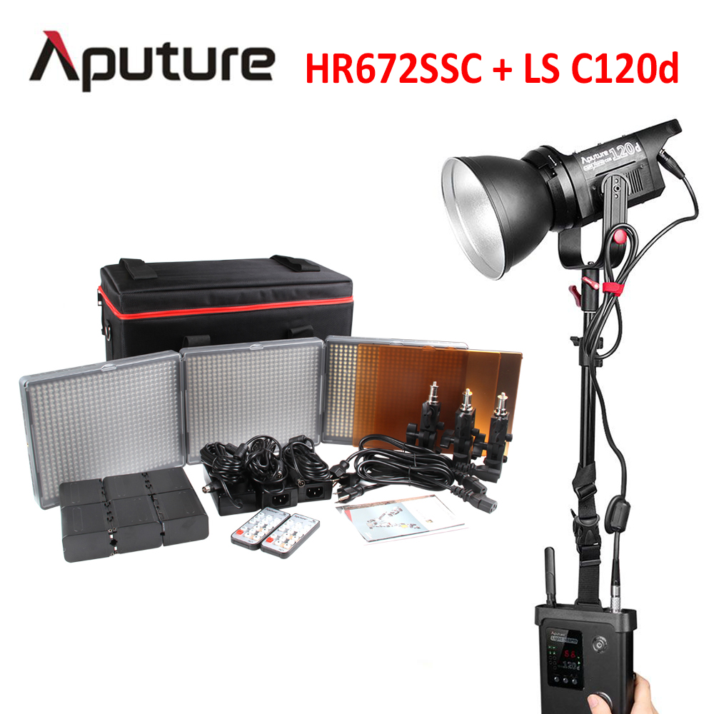 Aputure LS C120d + Amaran HR672SSC video light for photography kits led light for video shooting diy mini cnc 2418 pro 500mw 2500mw 5500mw laser head engraving machine pcb milling router wood carving machine