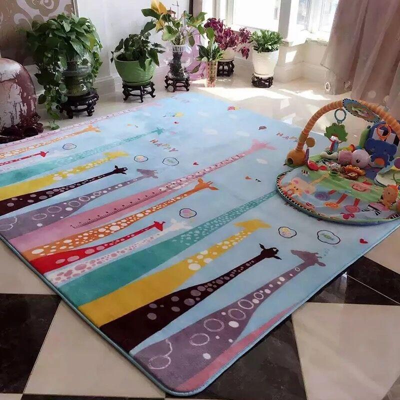 Ménage tapis de sol flanelle pas de glissement épais salon tapis chambre bébé ramper tapis tapis de jeu de bande dessinée #629