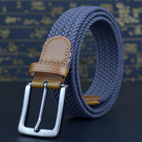 Versoseice High Quality Pin Buckle Women Belt Stretchable Knitted Elastic Cord Strap Female Waistband Fashion