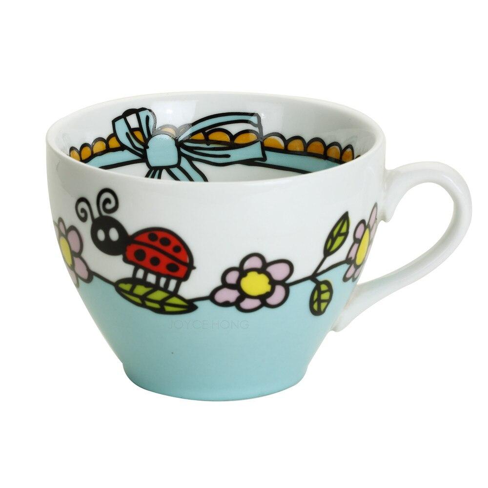 Ceramic Teacups Coffee Cups Porcelain Espresso Tea Mugs Breakfast Milk