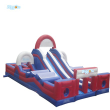 Giant PVC inflatable child obstacle course with slide for sale