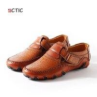 גודל גדול 46 47 48 מותג יוקרה אמיתי נעלי גברים מקרית גברים מוקסינים נעלי נהיגה להחליק על עור באיכות גבוהה בתוספת גודל