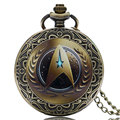 2016 New Arrival Star Trek Theme Quartz Fashion Mens/Womens Pocket Watch With Chain Necklace Best Gift