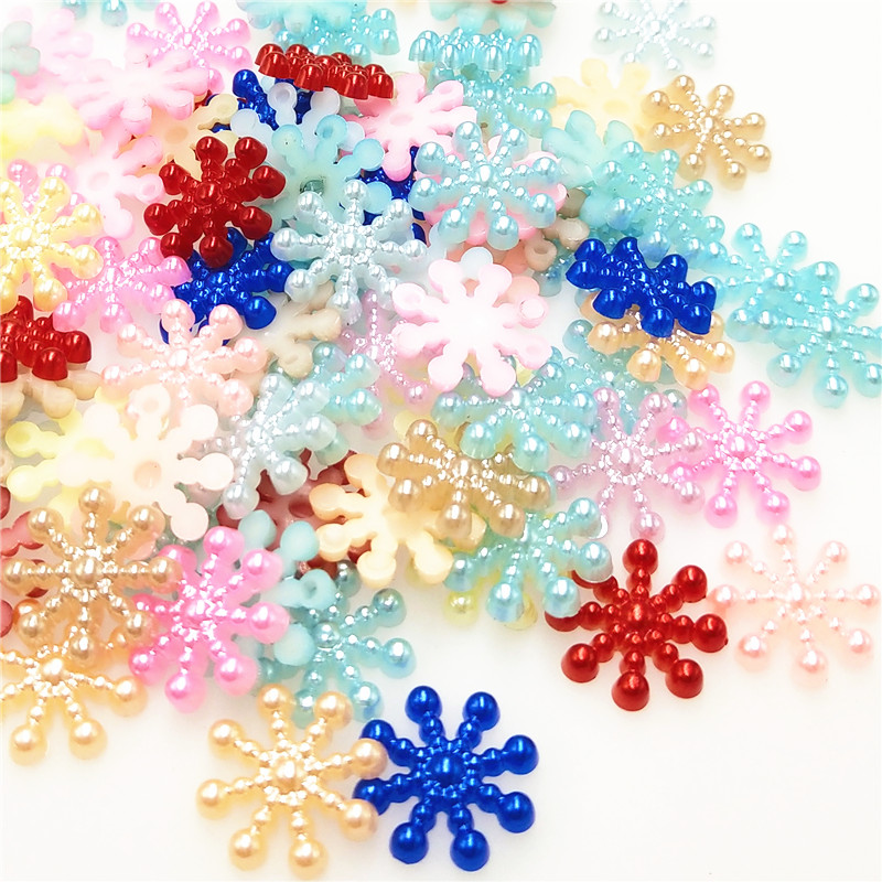 Home & Garden Arts,crafts & Sewing 50pcs Christmas Holiday Wooden Collection Snowflakes Buttons Snowflakes Embellishments 18mm Creative Decoration A Complete Range Of Specifications