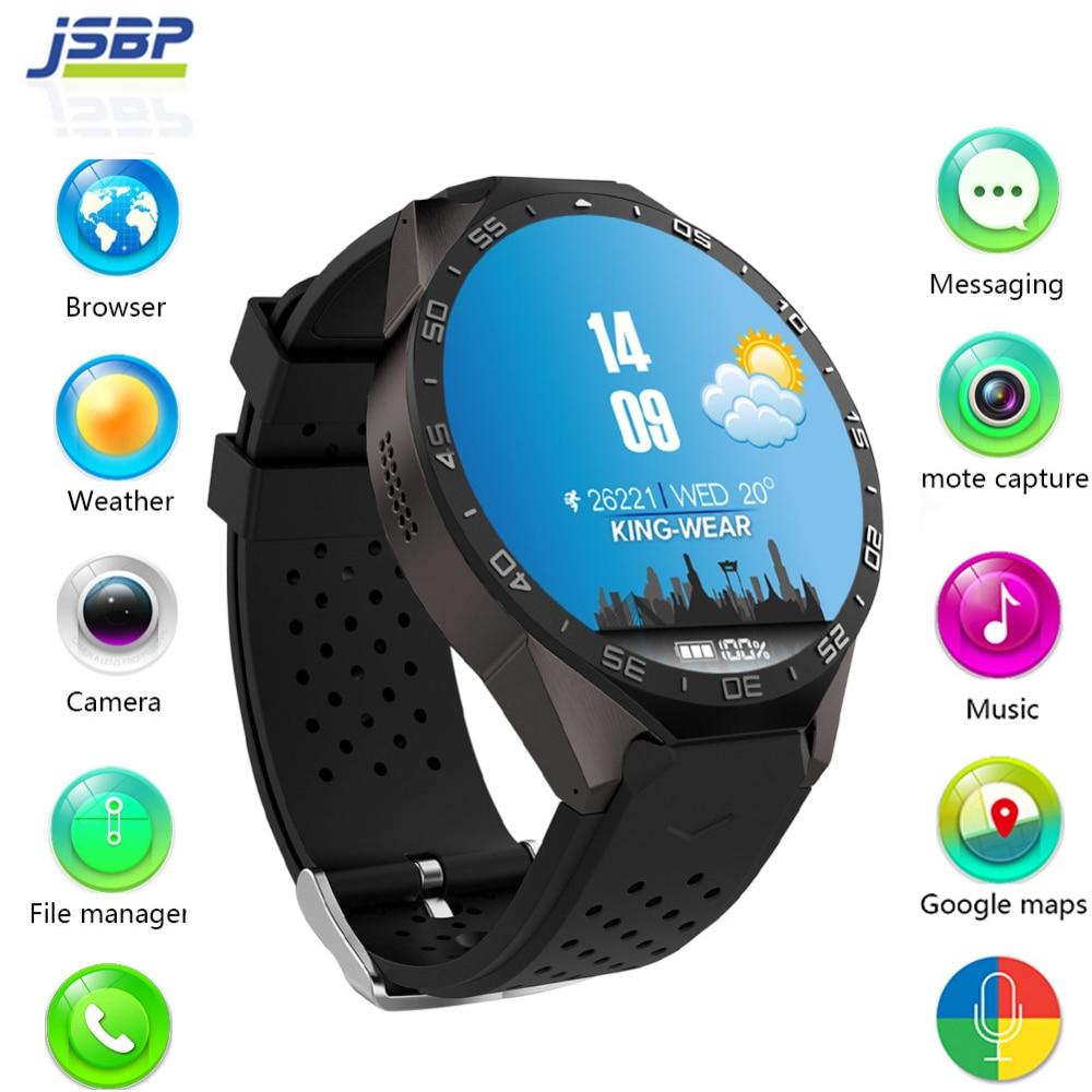 Kingwear Kw88 android 5.1 OS Astuto della vigilanza elettronica android 1.39 pollice mtk6580 SmartWatch phone support 3G wifi nano SIM WCDMA