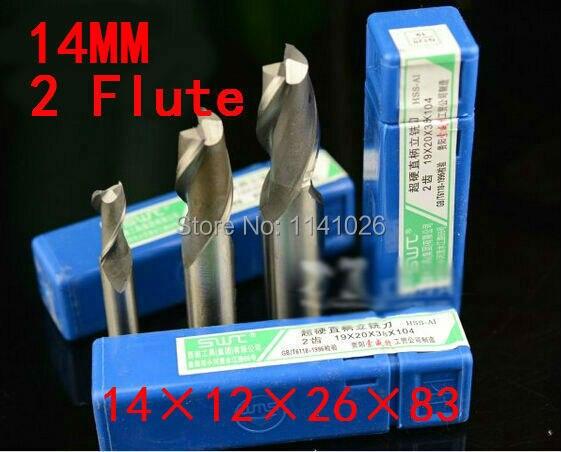 2 шт./набор 14 мм 2 Флейта HSS и алюминиевый концевой мельница гравер с ЧПУ сверло фрезерные инструменты, режущие инструменты. токарный инструмент