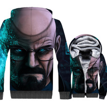 Streetwear Hoodies For Men Autumn Winter Thick Coats 2018 Hot Sale Breaking Bad 3D Pattern Mens Sweatshirt Hipster Tops Hoddie
