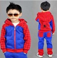 Человек-паук мальчики одежда набор человек-Паук детей спортивный костюм капюшоном куртки брюки ребенка толстовка дети пальто весна осень одежда