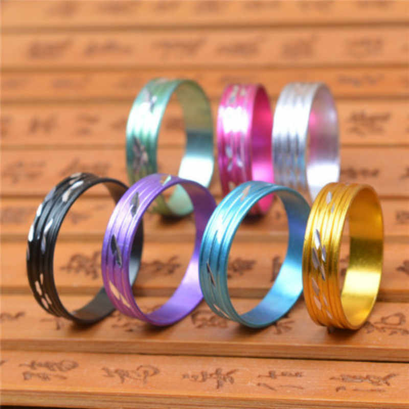 1pcs Random Colorful Rings Steel Rose Gold Anti-allergy Smooth Simple Wedding Couples Bijouterie for Man or Woman Gift Wholesale