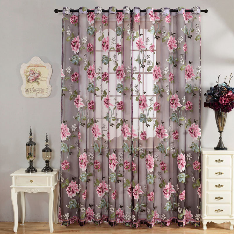Purple Curtains For Bedroom Living Room Living Room Children Bedroom Yellow Purple Sheer Curtain In Curtains