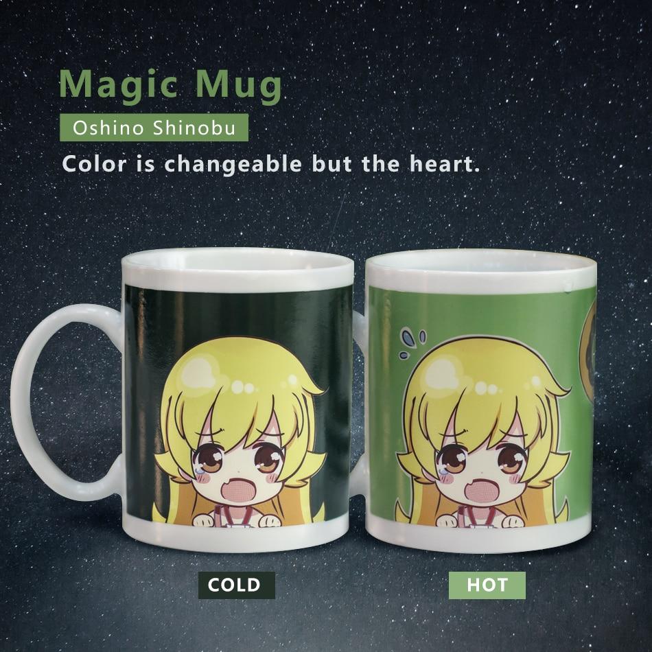 Creative Anime Monogatari Oshino Shinobu Color Changing Mug 280ml Magic  Ceramic Coffee Cup Funny Tea Cup For New Year Gift be040bc9f09e