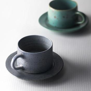 Juego de Taza de Café de Cerámica y platillo de estilo japonés,...