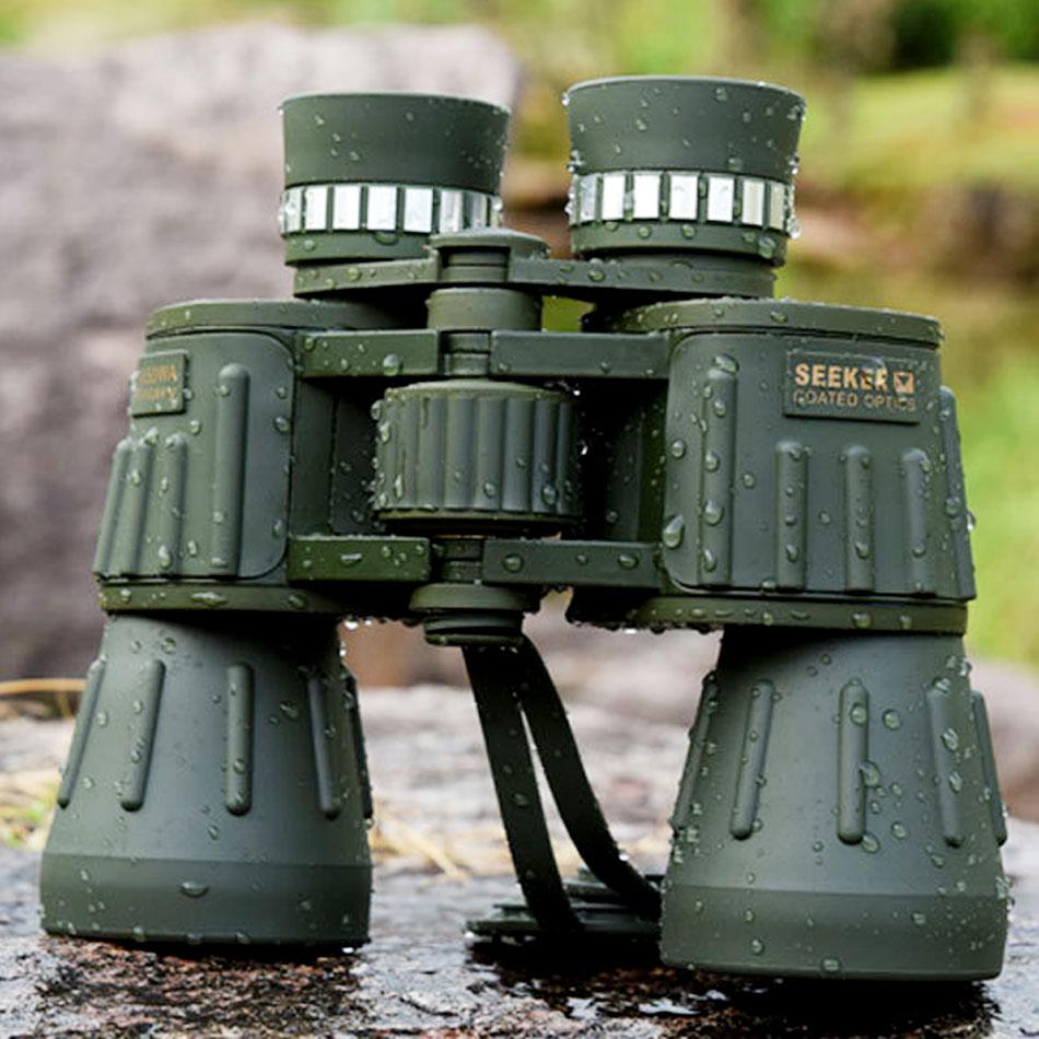 Seeker 10X50 WA Militare Binocolo Telescopio Professionale Weterproof bak4 Caccia Potente Binocolo telescopio Army Green new