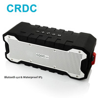 CRDC New Bluetooth Speaker Outdoor Portable Waterproof Speaker With Enhanced Bass Dual 5W Drivers 30 Hour