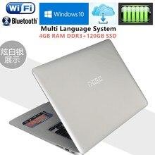 4GB RAM+120GB SSD Ultrabook 14.1″ 1920x1080P Laptop Intel Pentium N3520 Quad Core 2.16GHz office AZERTY Russian Spain Keyboard