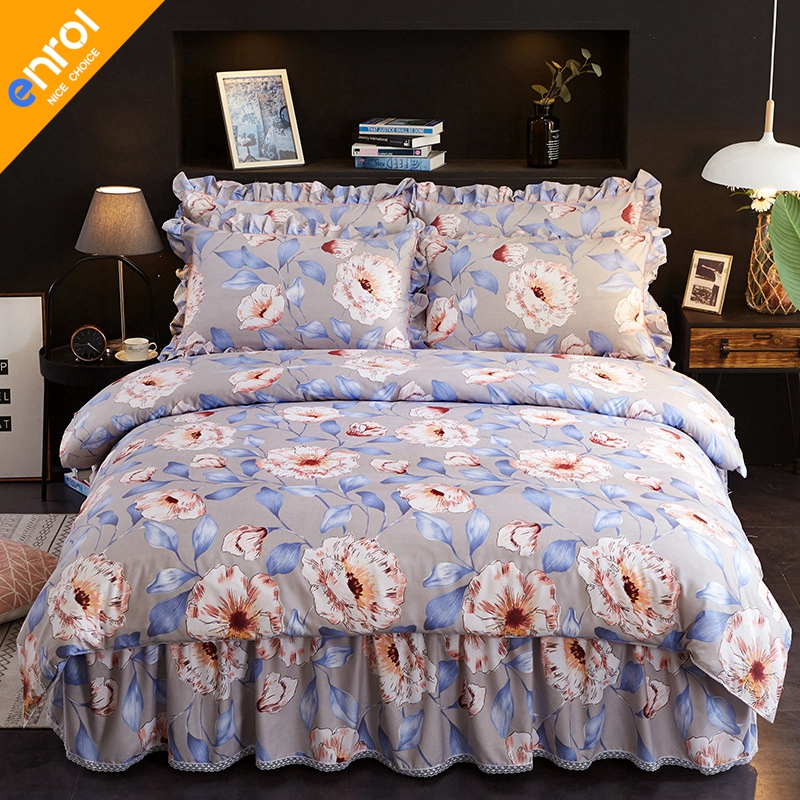 hot sale 4pcs beding set comfortable cheap high quality bedding set duvet cover bed skirt and pillowcases large sizehot sale 4pcs beding set comfortable cheap high quality bedding set duvet cover bed skirt and pillowcases large size