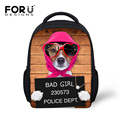 FORUDESIGNS New 12  Inch Animal School Bags For Kids ,3D Printing Dog Escolar bags Small Baby Seminary bags Child Mochila