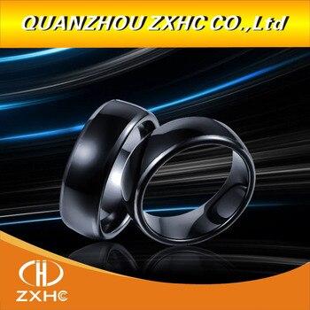 125KHZ/13 56MHZ RFID Black Ceramics Smart Finger Ring Wear for Men