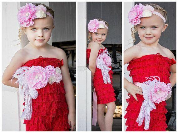 One Set Wedding Belt Waist Belt Children's Headband Belt  Peony Flower Belt Photographic Props Pregnant Women Ceinture Mariee