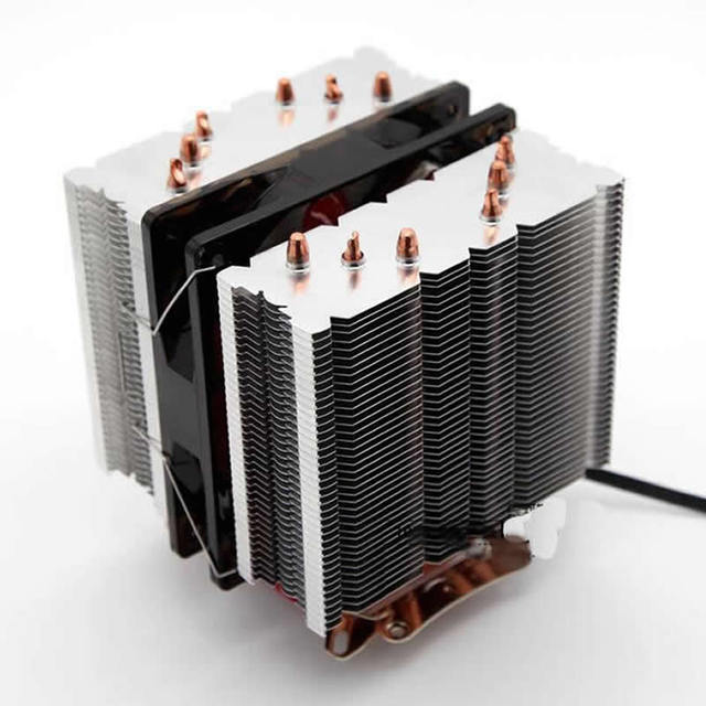 Arsylid Cpu Cooler 6 Heatpipe Dual Tower Avc 12cm 2 Fan